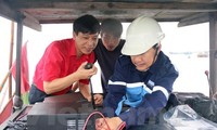 Communications equipment offered to fishermen in coastal provinces