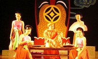 Performing traditional theater in Hanoi