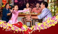 Vietnamese family reunion during Tet