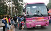 Hanoi offers free travel service for workers to visit home during Tet