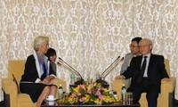 Party General Secretary Nguyen Phu Trong receives IMF Managing Director