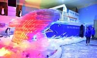 Kids escape heat at Saigon Polar Expo