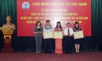 Award ceremony for the contest on Vietnam Law on Cooperatives 2012