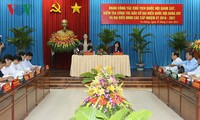 National Assembly Chairwoman inspects election preparations in An Giang