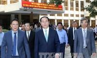 President Tran Dai Quang visits two major national academies