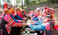 Rain blessing ceremony of the Ha Nhi