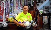 Former footballer Ha Bon and his collection of football souvenirs