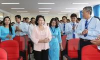 NA Chairwoman Nguyen Thi Kim Ngan visits Vinh Long province