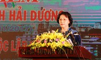 National Assembly Chairwoman attends 20th anniversary of Hai Duong province