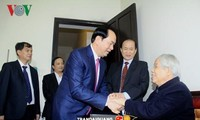 President Tran Dai Quang visits former Party leader Do Muoi