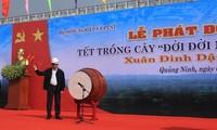 President Tran Dai Quang launches tree planting festival in Quang Ninh