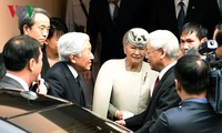 Party leader, his spouse meet Japanese Emperor, Empress
