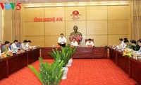 President Tran Dai Quang meets Nghe An leaders