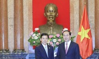 President receives Chinese Trade Minister