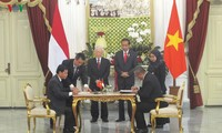 Party General Secretary meets leader of Indonesian Democratic Party of Struggle