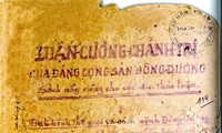 "National treasure ""Đường kách mệnh""on display"