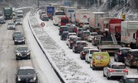 Snow in Europe triggers transport chaos