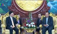 Actividades del viceprimer ministro y canciller de Vietnam en Laos