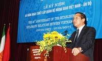 Vietnam y la India celebran aniversario 45 de relaciones diplomáticas
