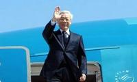 Inicia máximo líder partidista de Vietnam visita oficial a China