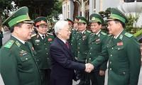 Máximo líder político de Vietnam visita fuerzas guardafronteras en vísperas del Tet 2017