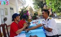Bancos de sangre en distrito insular de Truong Sa