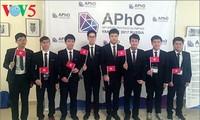 Delegación vietnamita gana medalla de oro en XVIII Olimpiada de Física de Asia