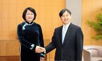 Vicepresidenta de Vietnam se entrevista con emperador y príncipe heredero de Japón