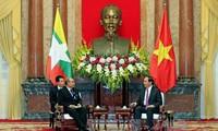 Presidente de Vietnam recibe al líder parlamentario de Myanmar