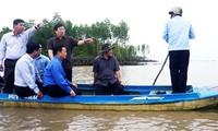 Viceprimer ministro orienta sobre prevención de deslizamientos de tierra en Delta del río Mekong