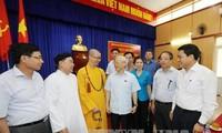 Máximo líder político se reúne con electores en localidades capitalinas