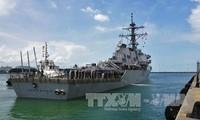 Estados Unidos identifica los restos de los tripulantes desaparecidos del destructor USS John McCain