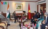 Chủ tịch Quốc hội Nguyễn Thị Kim Ngân tiếp Tổng bí thư Đảng Cộng sản Ấn Độ Mác-xít Sitaram Yechury