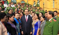 Chủ tịch nước Trần Đại Quang gặp mặt tấm gương điển hình trong phòng, chống ma túy