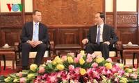 Chủ tịch nước Trần Đại Quang tiếp Đại sứ Cộng hòa Czech chào từ biệt