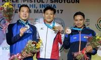 Xạ thủ Hoàng Xuân Vinh giành Huy chương bạc ở Cúp bắn súng Thế giới