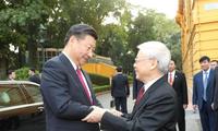 Entretien Nguyen Phu Trong-Xi Jinping