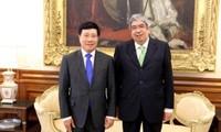 Vice primer ministro y canciller vietnamita inicia visita oficial a Portugal