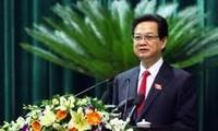 Perdana Menteri Nguyen Tan Dung  menghadiri upacara meresmikan  proyek besar di propinsi Ca Mau