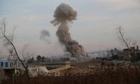 First Syrian air strikes on Kurdish positions