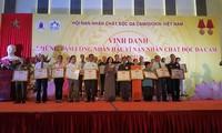 Vietnam honra a 120 personas por su apoyo a las víctimas de la dioxina en 2017