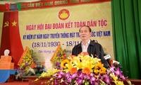 Presidente de Vietnam participa en la Fiesta de la Unidad Nacional en la localidad norteña