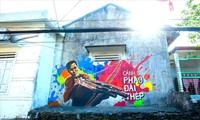 La aldea de Canh Duong renueva su fisonomía con un nuevo mural