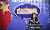 Rueda de prensa ordinaria de la Cancillería vietnamita reafirma el apoyo nacional a la paz del mundo