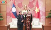 Presidenta parlamentaria de Vietnam recibe al vicepresidente de la Asamblea Nacional de Laos