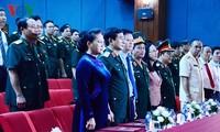 Líder parlamentaria visita la Academia Nacional de Defensa en su nuevo año escolar