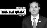 Ciudadanos vietnamitas muestran su pésame por el fallecimiento del presidente del país