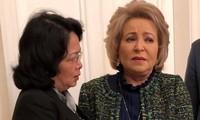 Vicepresidenta de Vietnam se reúne con jefa del Consejo de la Federación de Rusia
