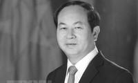 Dirigentes mundiales envían mensajes de condolencia por el deceso del presidente de Vietnam