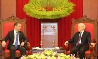 Máximo líder político de Vietnam recibe al primer ministro de Rusia